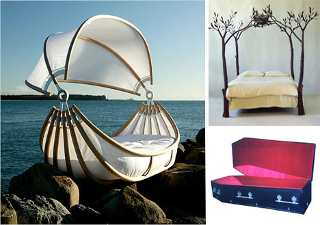 bed sail coffin Extraordinary and Unusual Bed Designs Ideas