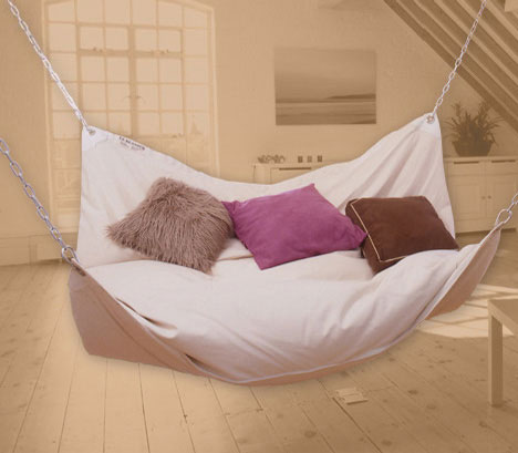 bed swing Extraordinary and Unusual Bed Designs Ideas