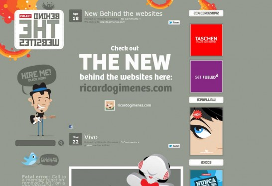 behind the websites 546x374 Another 30 Cartoon Style Website Design for Inspirations 