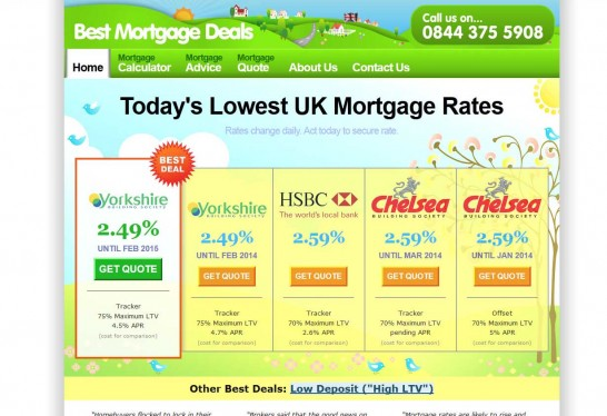 best mortgage deals 546x374 Another 30 Cartoon Style Website Design for Inspirations 