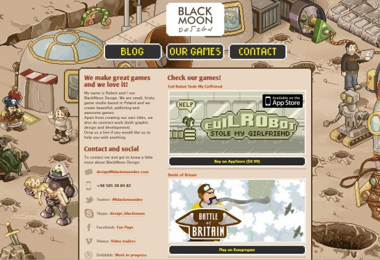 blackmoon design 546x374 36 Cartoon Style Website Design for Inspirations