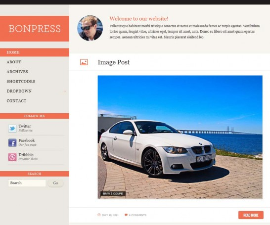 bonpress responsive 546x455 22 Free WordPress Themes with Responsive Layout