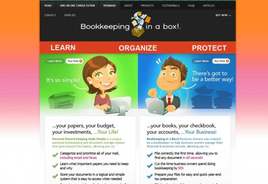 bookkeepinginabox 546x374 Another 30 Cartoon Style Website Design for Inspirations 