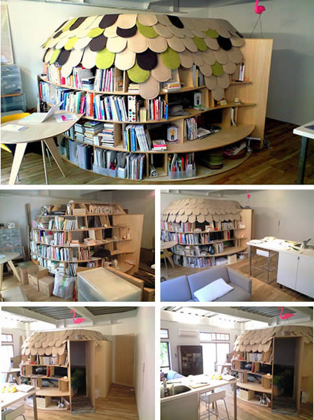 bookshelve 1 Extraordinary and Unusual Bed Designs Ideas