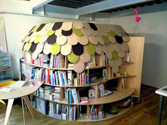bookshelve 2 546x410 Extraordinary and Unusual Bed Designs Ideas