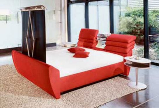 cinema bed2 546x372 Extraordinary and Unusual Bed Designs Ideas