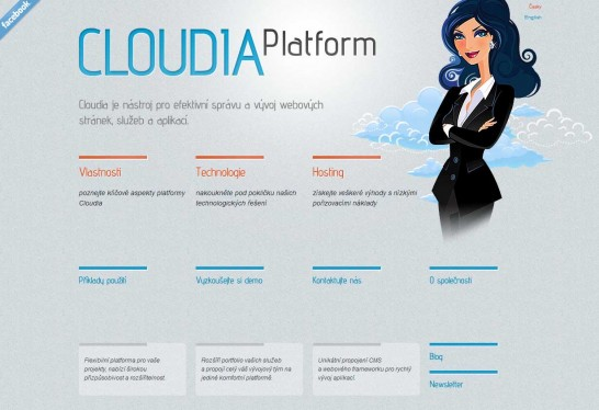 cloudia 546x374 36 Cartoon Style Website Design for Inspirations