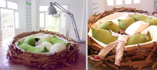 creative beds giant nest 2 546x244 Extraordinary and Unusual Bed Designs Ideas