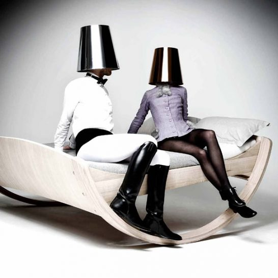 creative beds rocking bed 2 546x546 Extraordinary and Unusual Bed Designs Ideas