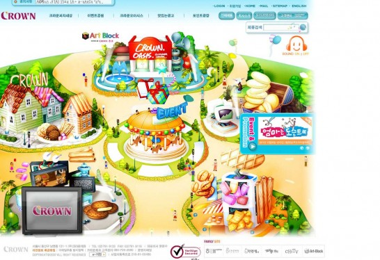 crown 546x374 Another 30 Cartoon Style Website Design for Inspirations 