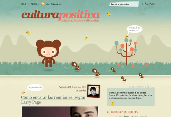 cultura positiva 546x374 36 Cartoon Style Website Design for Inspirations