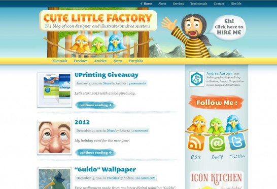 cute little factory 546x374 Another 30 Cartoon Style Website Design for Inspirations 