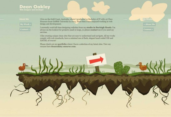 dean oakley 546x374 36 Cartoon Style Website Design for Inspirations