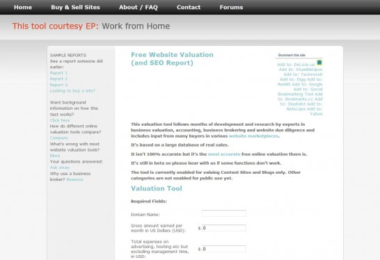 ebiz valuations 546x374 Another 10 Best Website Valuation Tools