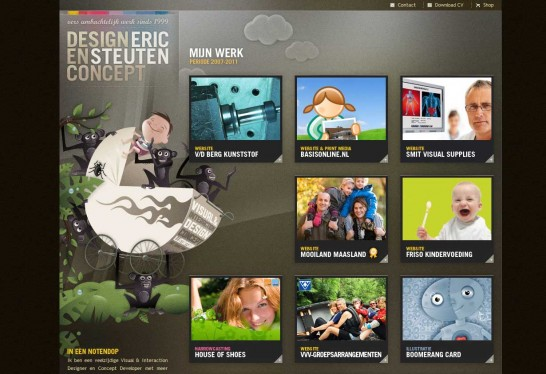 ericsteuten 546x374 36 Cartoon Style Website Design for Inspirations