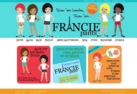 francie pants 546x374 Another 30 Cartoon Style Website Design for Inspirations 