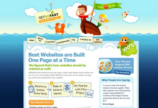getmefast 546x374 Another 30 Cartoon Style Website Design for Inspirations 