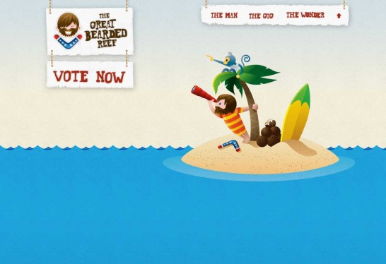 great bearded reef 546x374 36 Cartoon Style Website Design for Inspirations