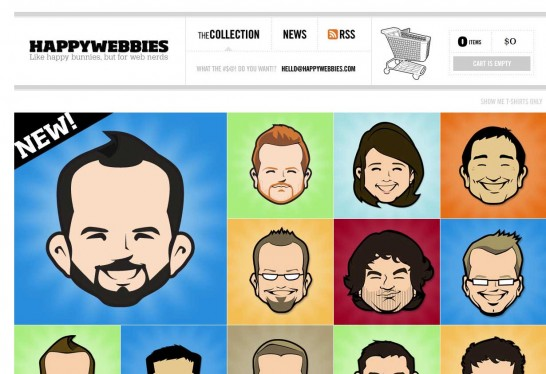 happywebbies 546x374 Another 30 Cartoon Style Website Design for Inspirations 