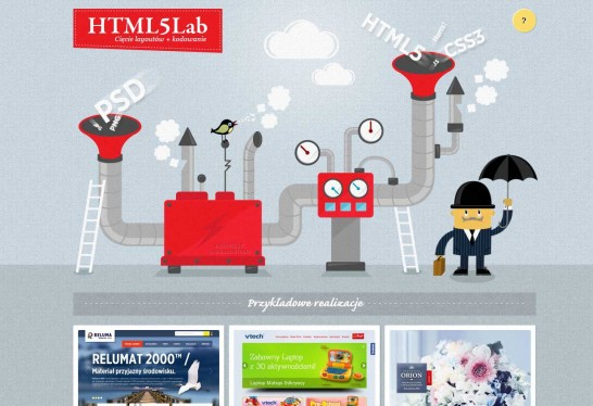 html5lab 546x374 Another 30 Cartoon Style Website Design for Inspirations 