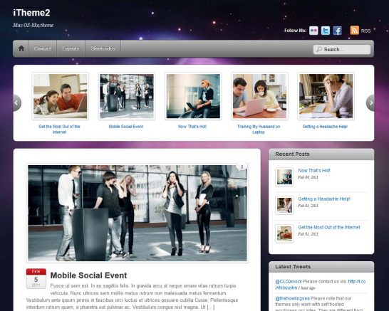 itheme2 responsive 546x437 22 Free WordPress Themes with Responsive Layout