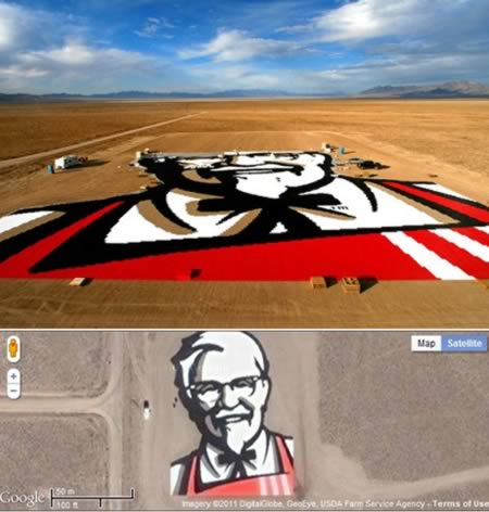 kfc 12 Worlds Largest Advertisements