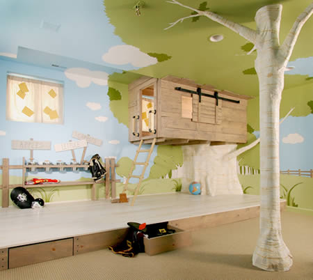 kid treehouse Extraordinary and Unusual Bed Designs Ideas