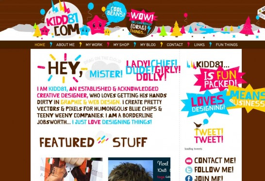 kidd81 546x374 36 Cartoon Style Website Design for Inspirations