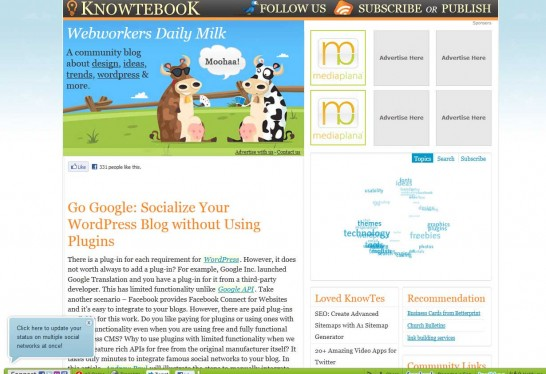 knowtebook 546x374 Another 30 Cartoon Style Website Design for Inspirations 