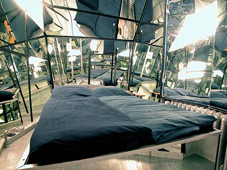 mirror Extraordinary and Unusual Bed Designs Ideas