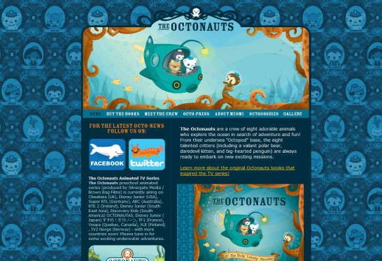 octonauts 546x374 Another 30 Cartoon Style Website Design for Inspirations 