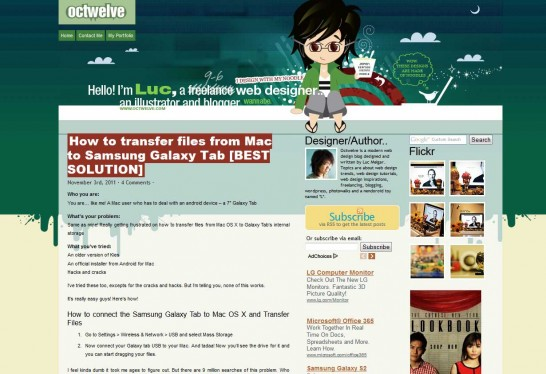 octwelve 546x374 Another 30 Cartoon Style Website Design for Inspirations 