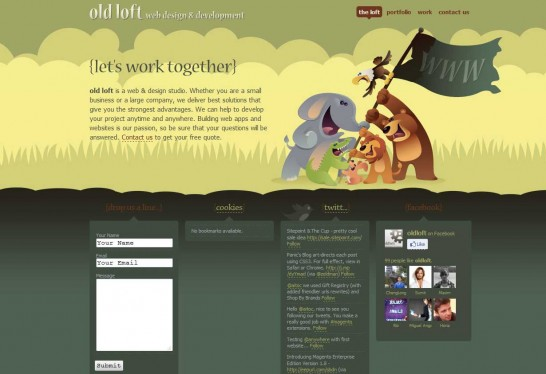 old loft 546x374 36 Cartoon Style Website Design for Inspirations