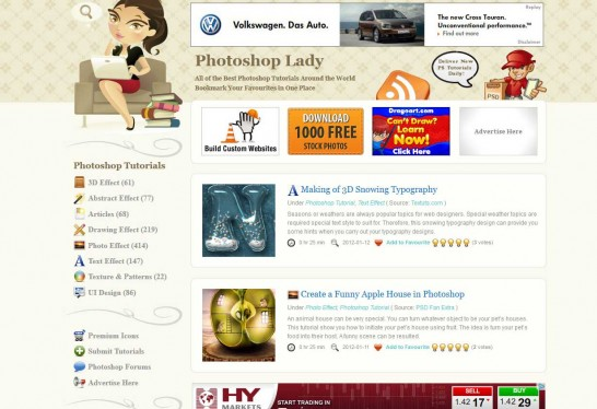 photoshop lady 546x374 Another 30 Cartoon Style Website Design for Inspirations 