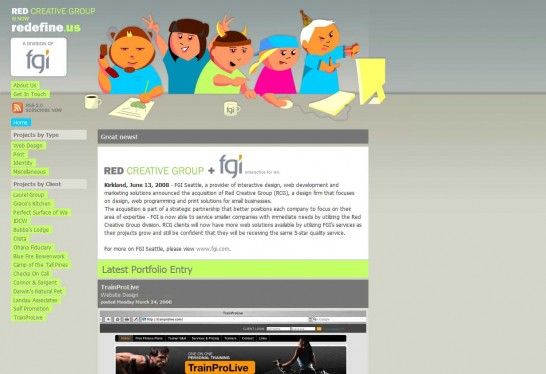 redefine 546x374 Another 30 Cartoon Style Website Design for Inspirations 