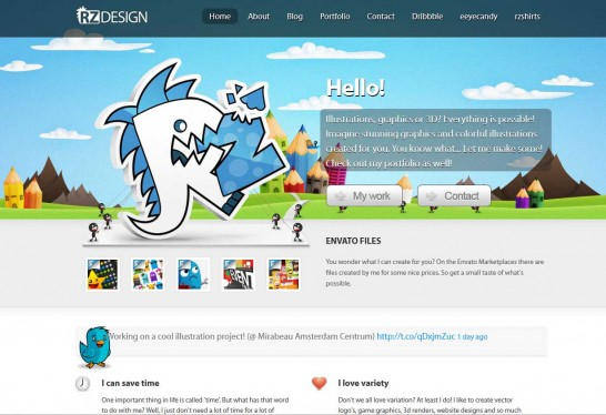 rz design 546x374 Another 30 Cartoon Style Website Design for Inspirations 
