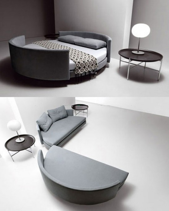 saba italia scoop bed 546x678 Extraordinary and Unusual Bed Designs Ideas