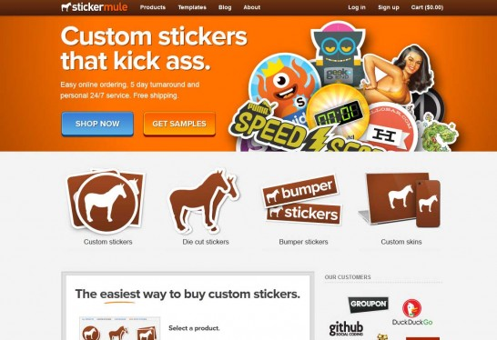 stickermule 546x374 Another 30 Cartoon Style Website Design for Inspirations 