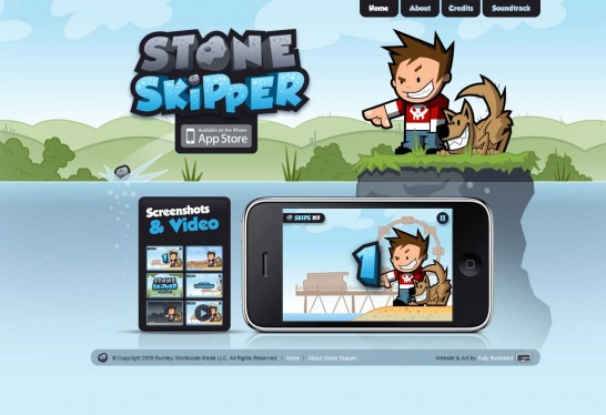 stone skipper 546x374 36 Cartoon Style Website Design for Inspirations
