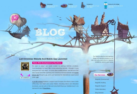 the pixel blog 546x374 36 Cartoon Style Website Design for Inspirations