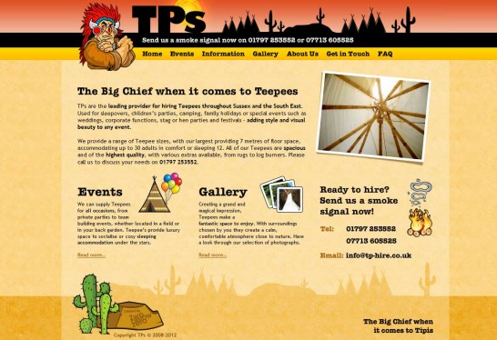 tp for hire 546x374 36 Cartoon Style Website Design for Inspirations