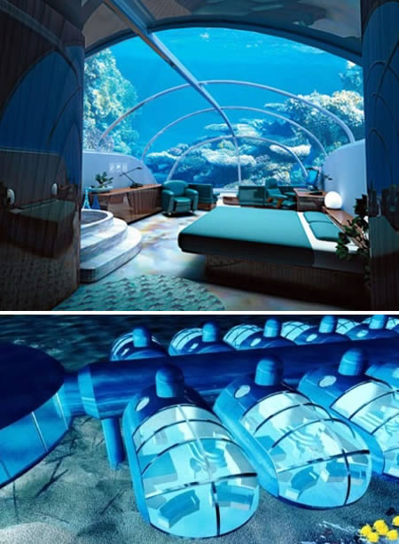 underwater Extraordinary and Unusual Bed Designs Ideas