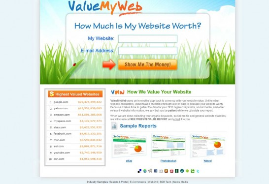 value my web 546x374 Another 10 Best Website Valuation Tools