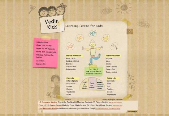 vedinkids 546x374 36 Cartoon Style Website Design for Inspirations