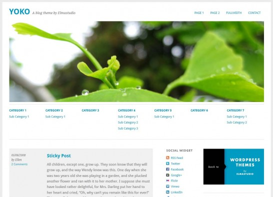 yoko responsive 546x394 22 Free WordPress Themes with Responsive Layout
