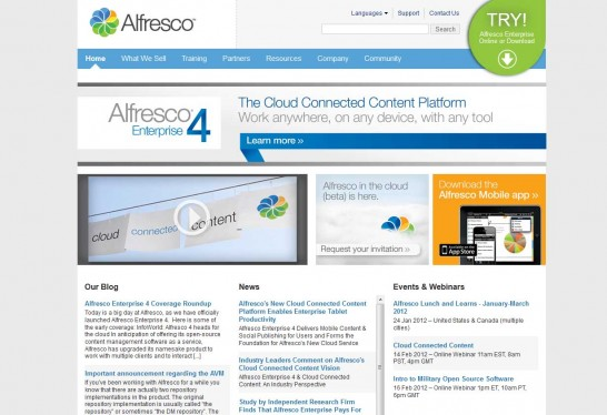 alfresco cms 546x374 14 Free CMS Alternatives for Web Developers