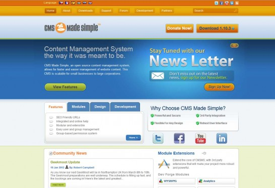 cmsmadesimple cms 546x374 14 Free CMS Alternatives for Web Developers