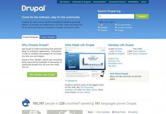 drupal cms 546x374 14 Free CMS Alternatives for Web Developers