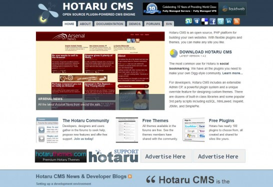 hotaru cms 546x374 14 Free CMS Alternatives for Web Developers