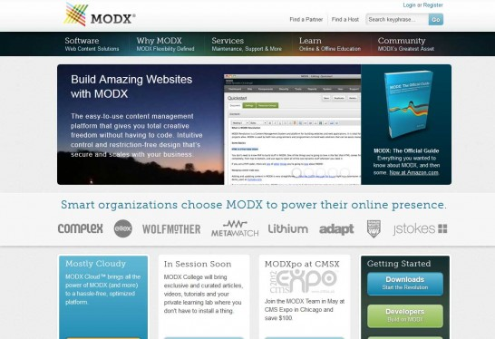 modx cms 546x374 14 Free CMS Alternatives for Web Developers